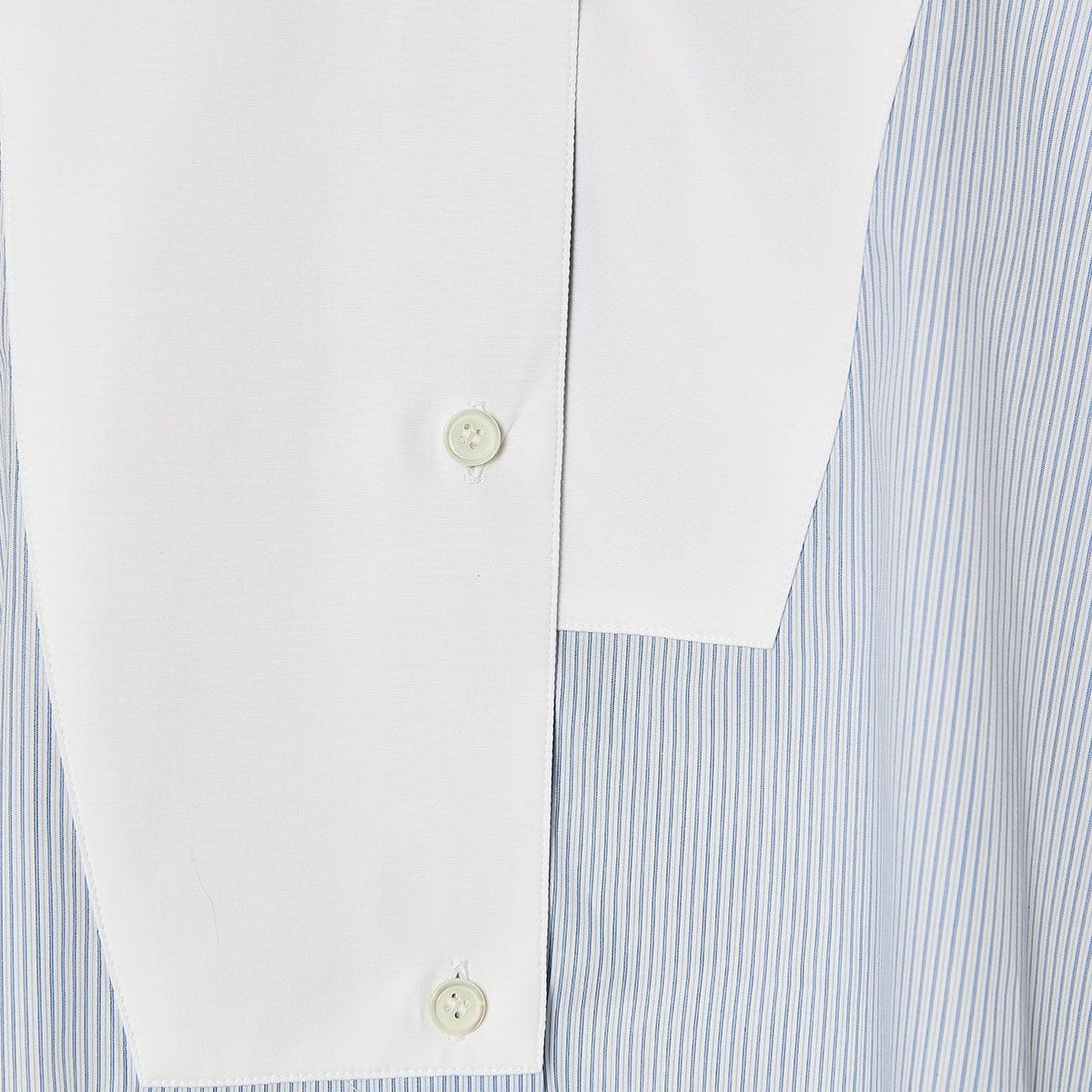 Oversized asymmetric striped shirtOversized asymmetric striped shirt