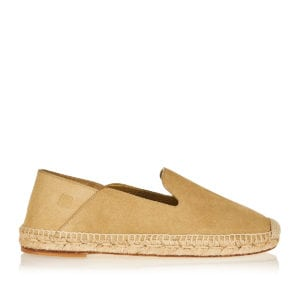 Collapsible suede espadrilles