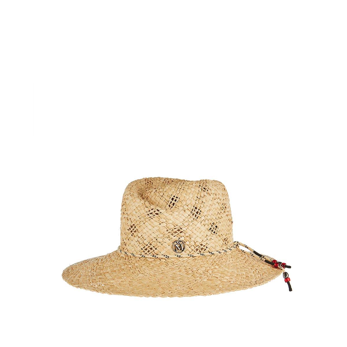 Rose raffia woven hat