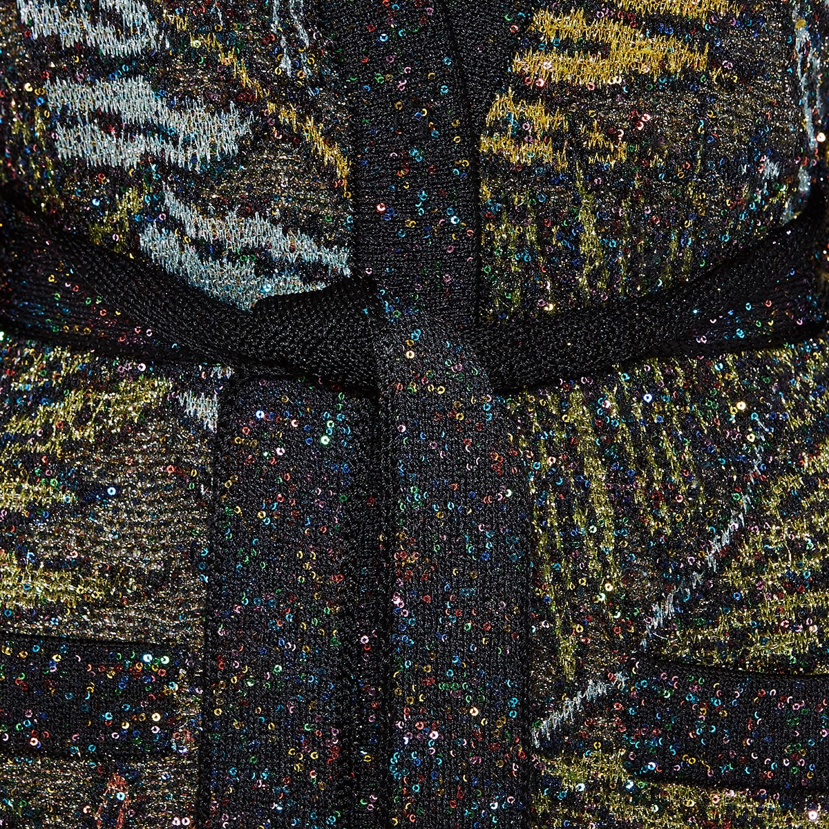 Sequin printed lurex cardigan