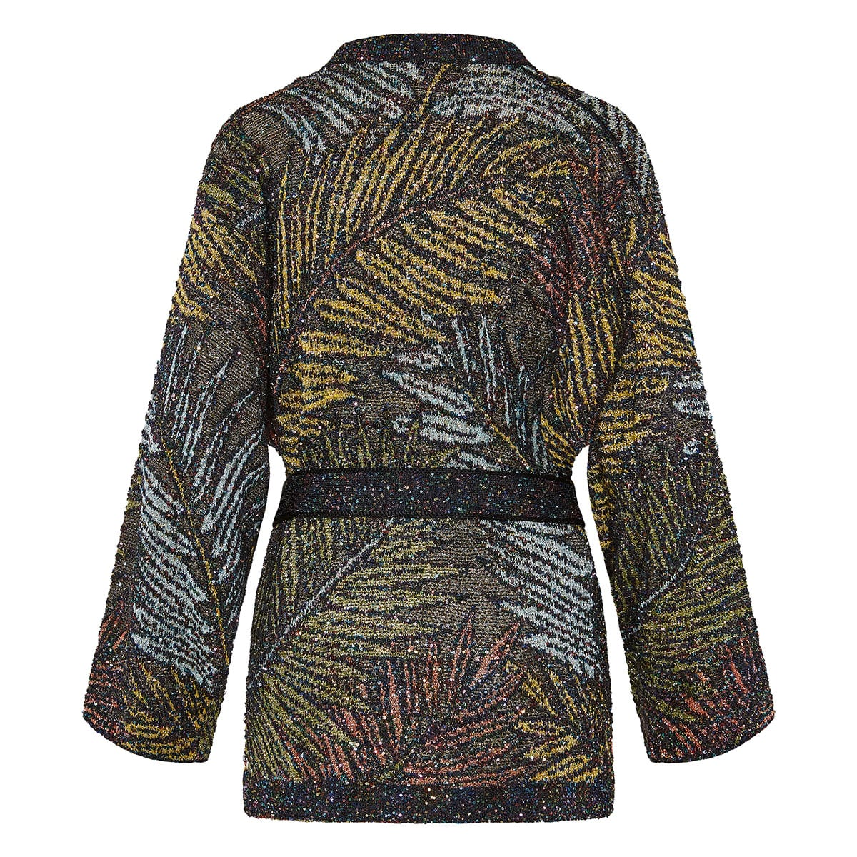 Sequin printed lurex cardigan