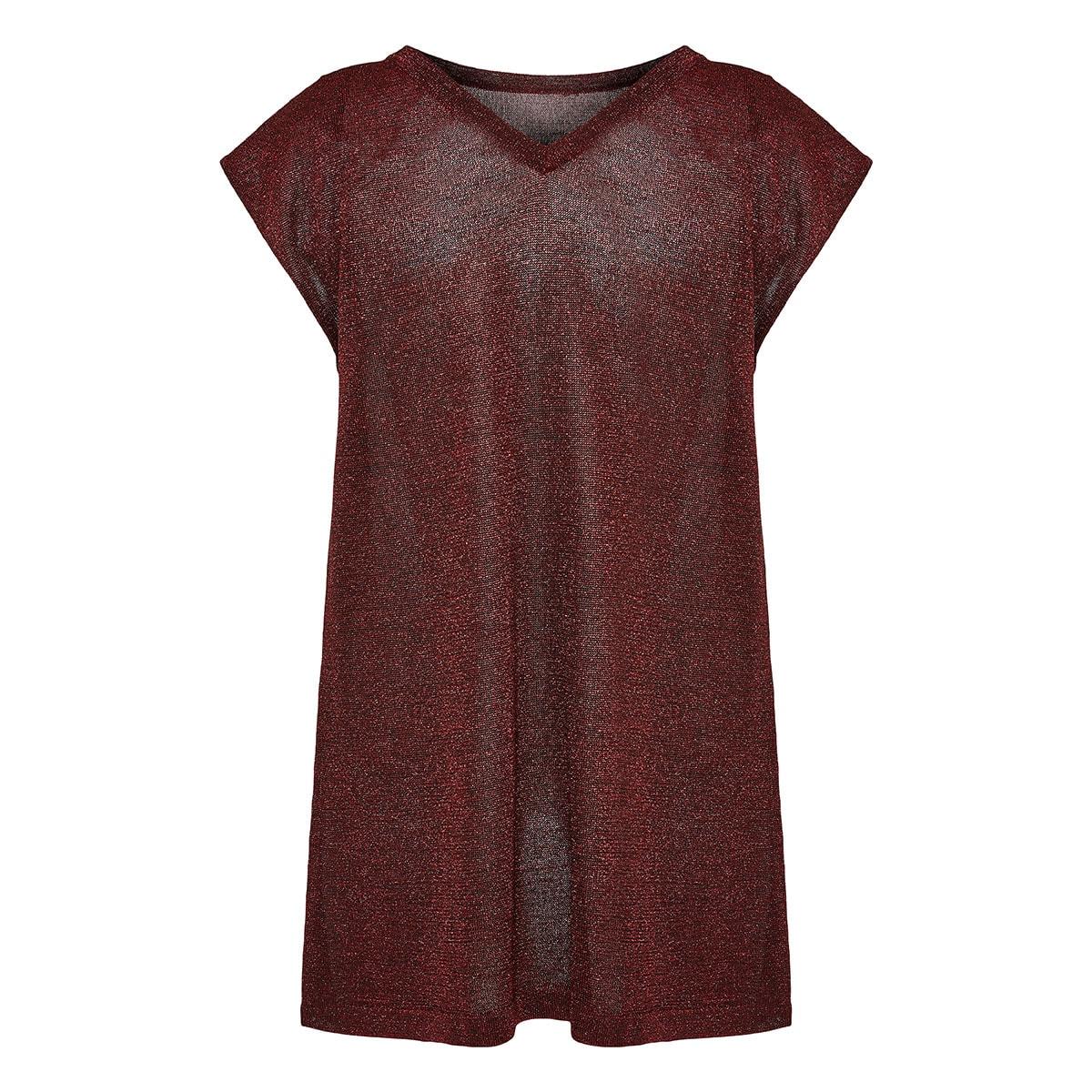 Longline lurex t-shirt