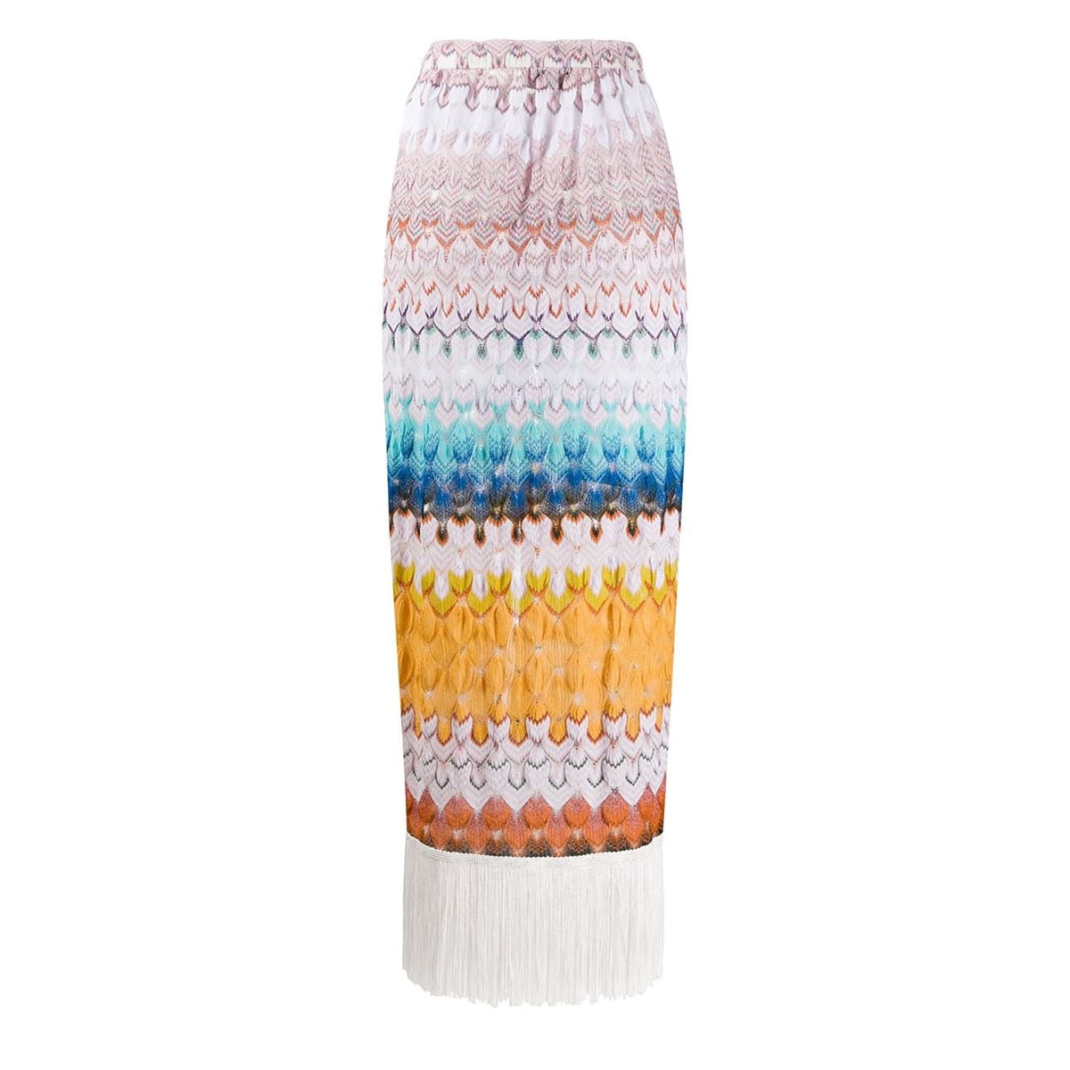 Abstract print knitted sarong skirt