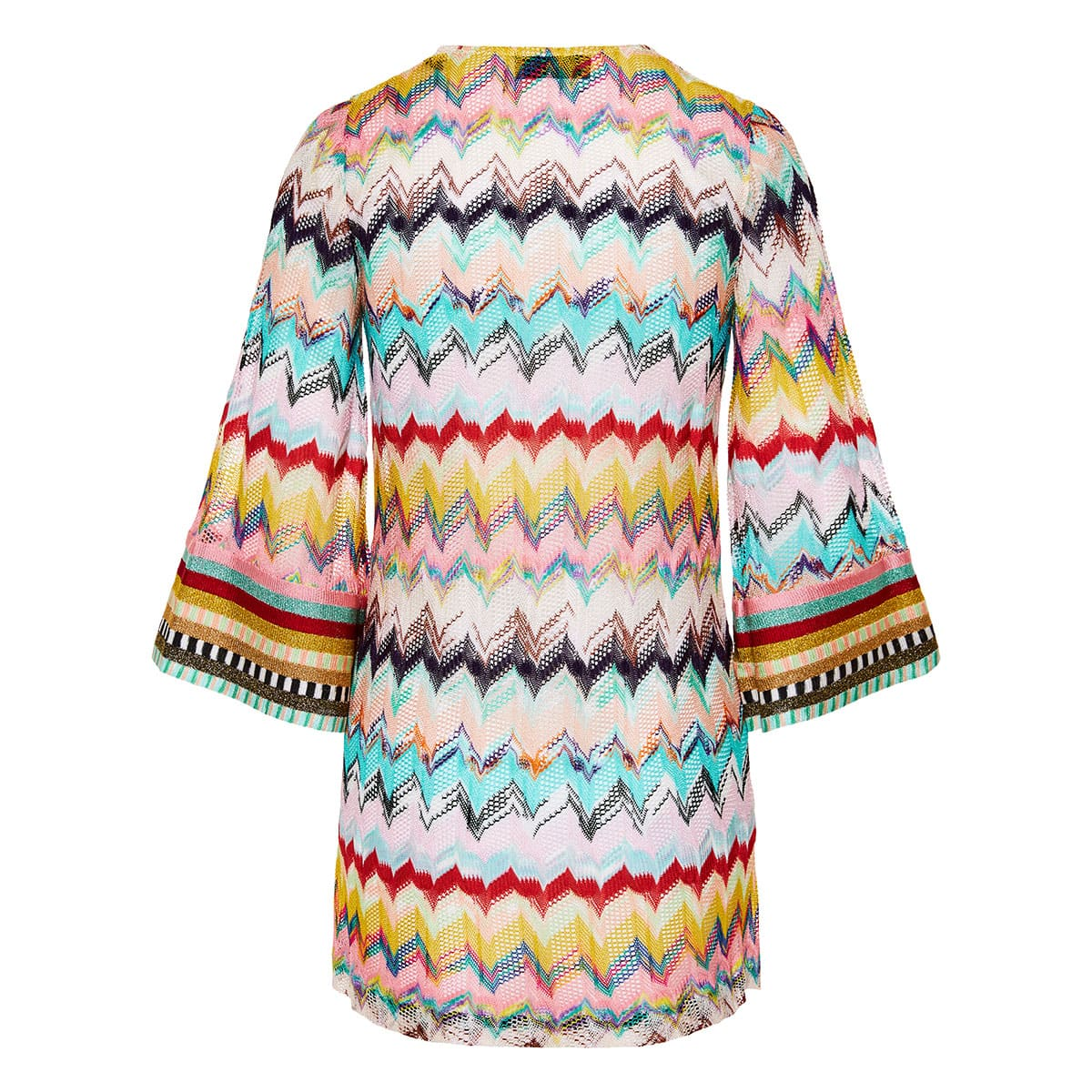Abstract print crochet kaftan dress