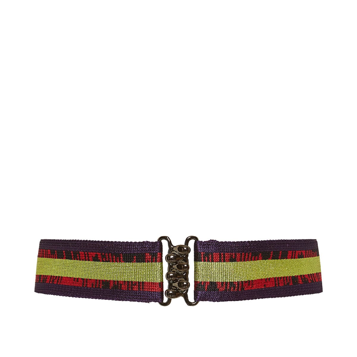 Striped knitted belt