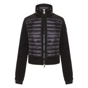 Cotton jacket with quilted puffer panel