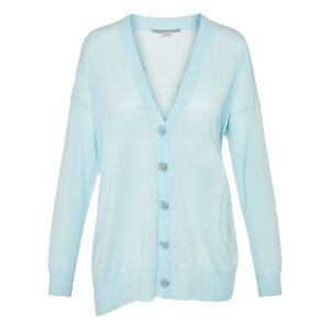 Asymmetric wool cardigan