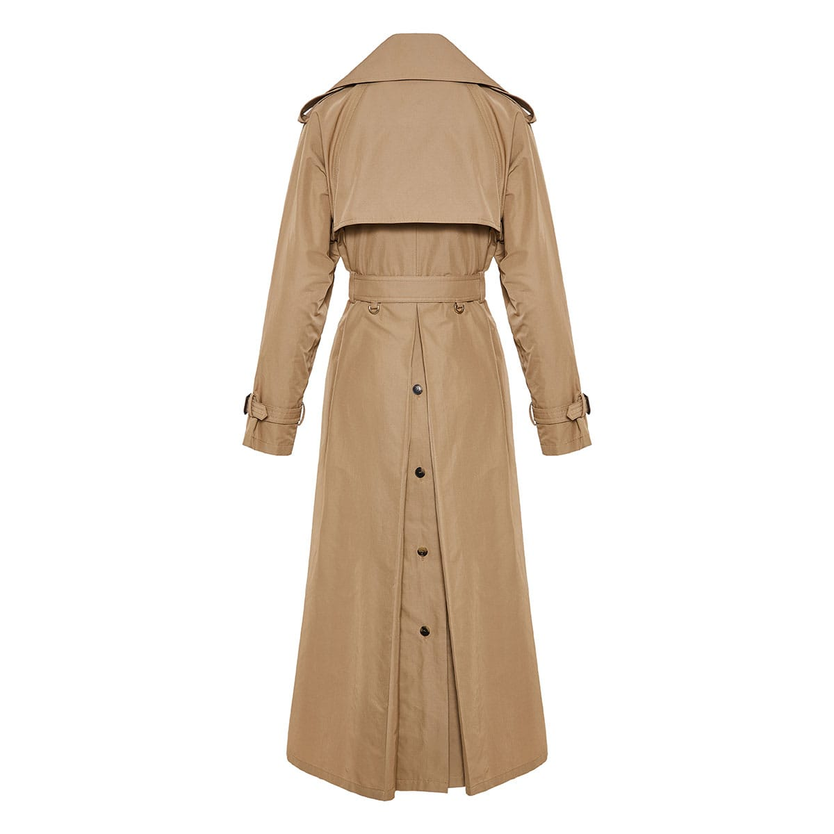 V-logo cotton trench coat