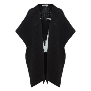 Vlogo wool knitted cape