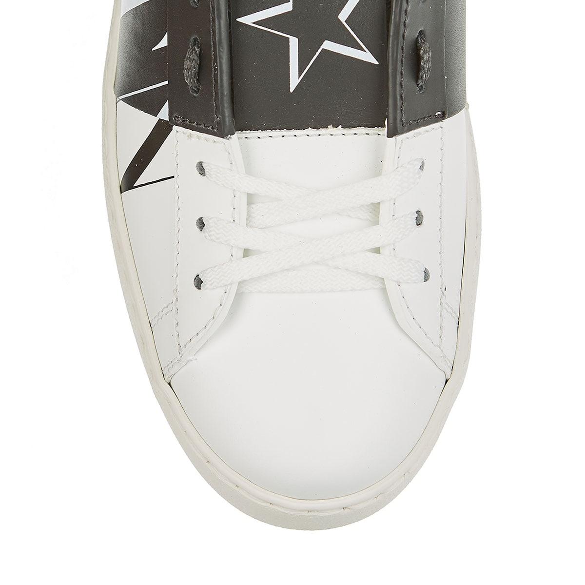 VLTN Open leather sneakers