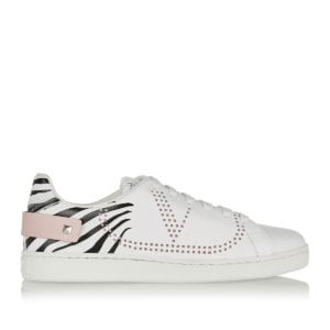 BACKNET zebra printed leather sneakers