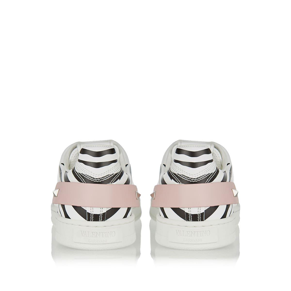 BACKNET zebra printed leather sneakers