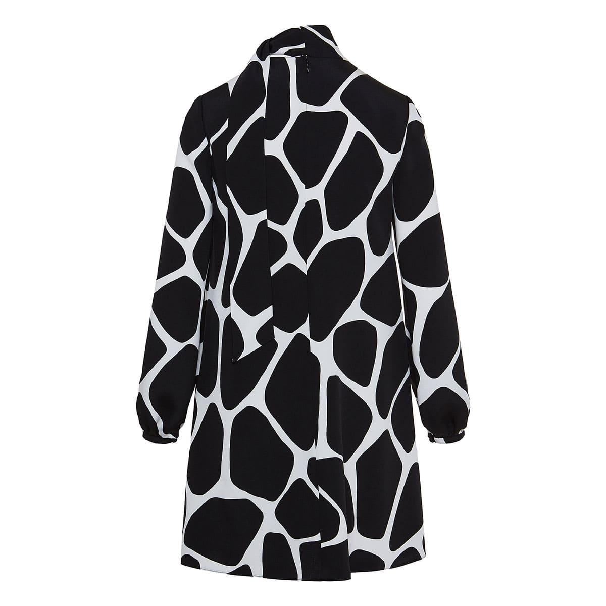 Giraffe printed bow-tie cady dress