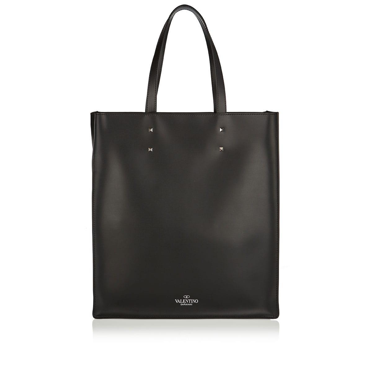 VLTN leather tote