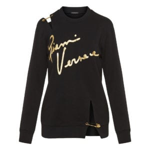 Pin-embellished logo sweatshirt