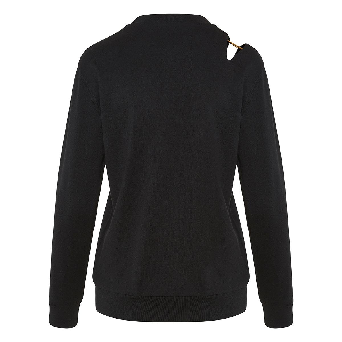 Pin-embellished logo sweatshirt