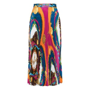 Barocco Rodeo pleated midi skirt