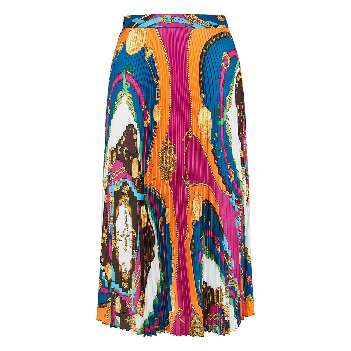 Barocco Rodeo pleated midi skirt
