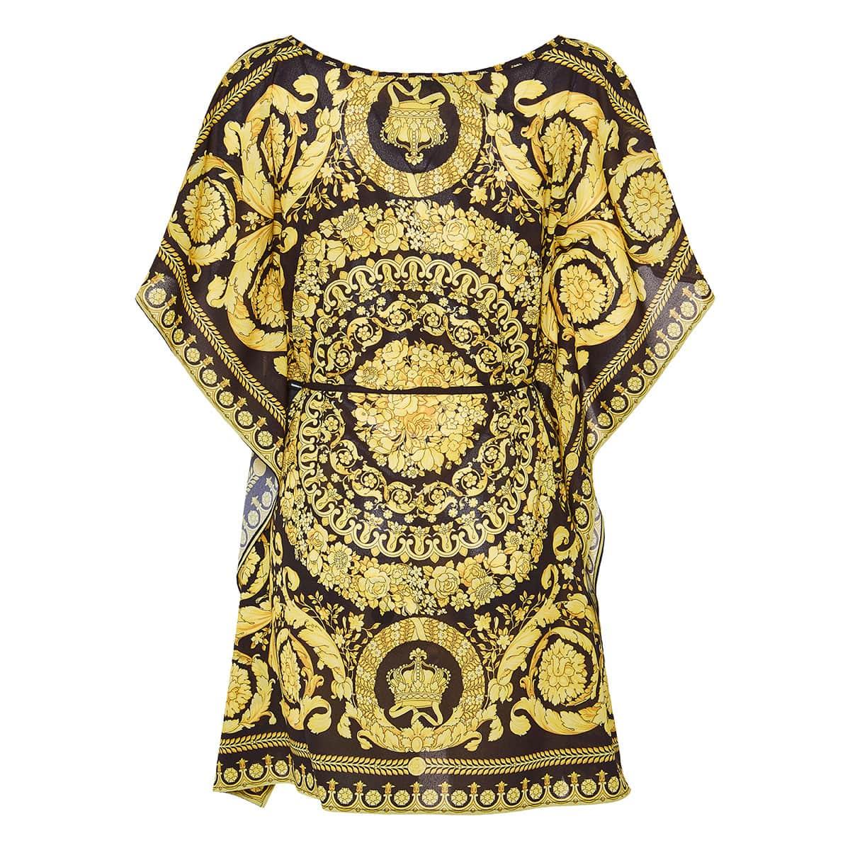 Baroque print kaftan dress