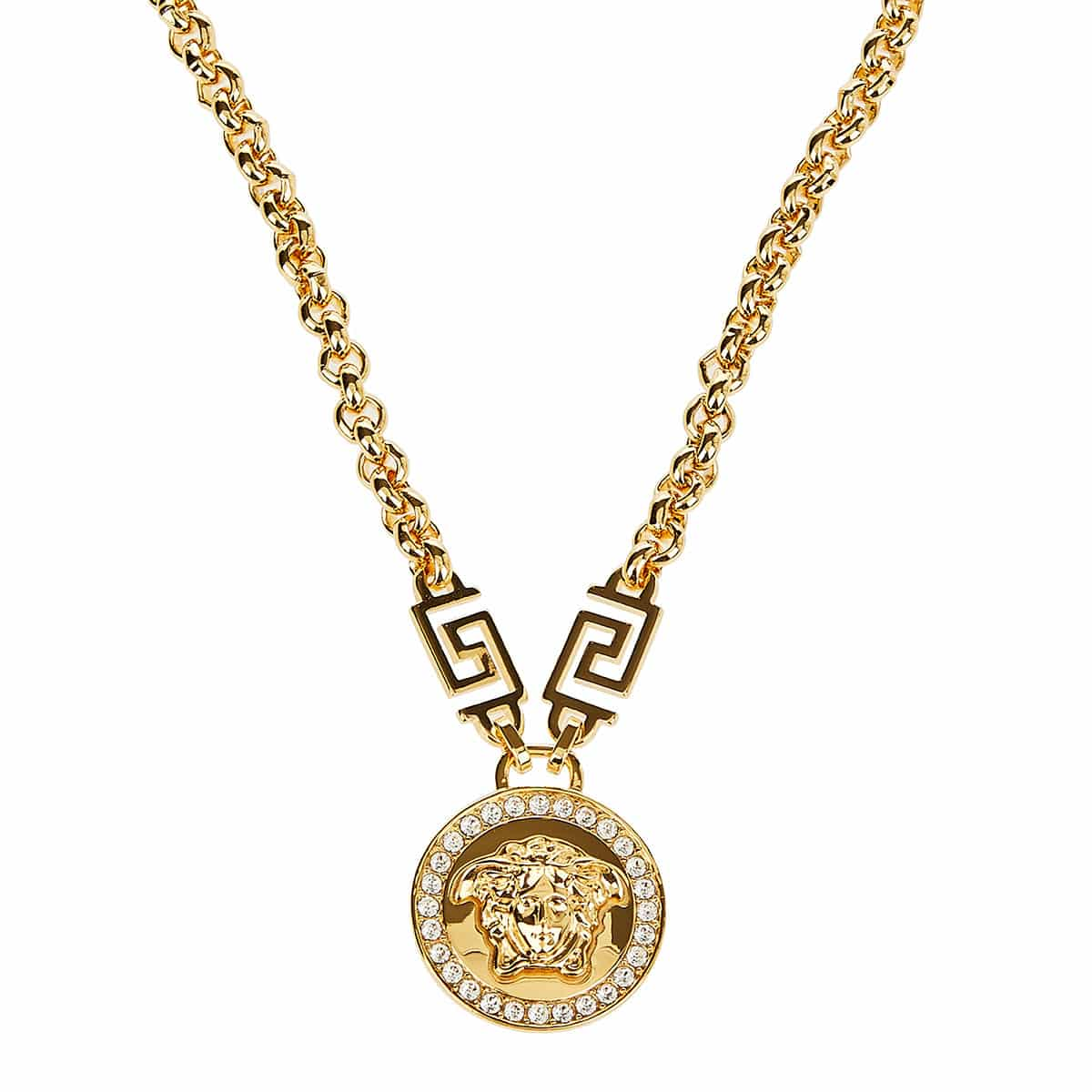 Medusa pendant chain necklace