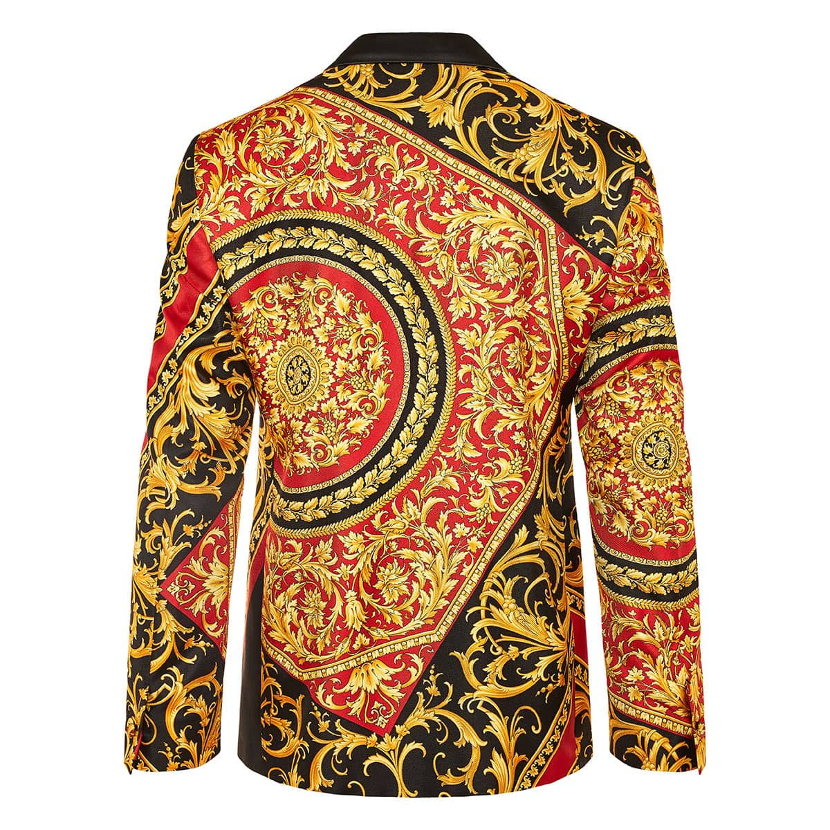 Baroque printed silk blazer