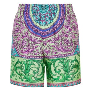 Baroque printed track shorts