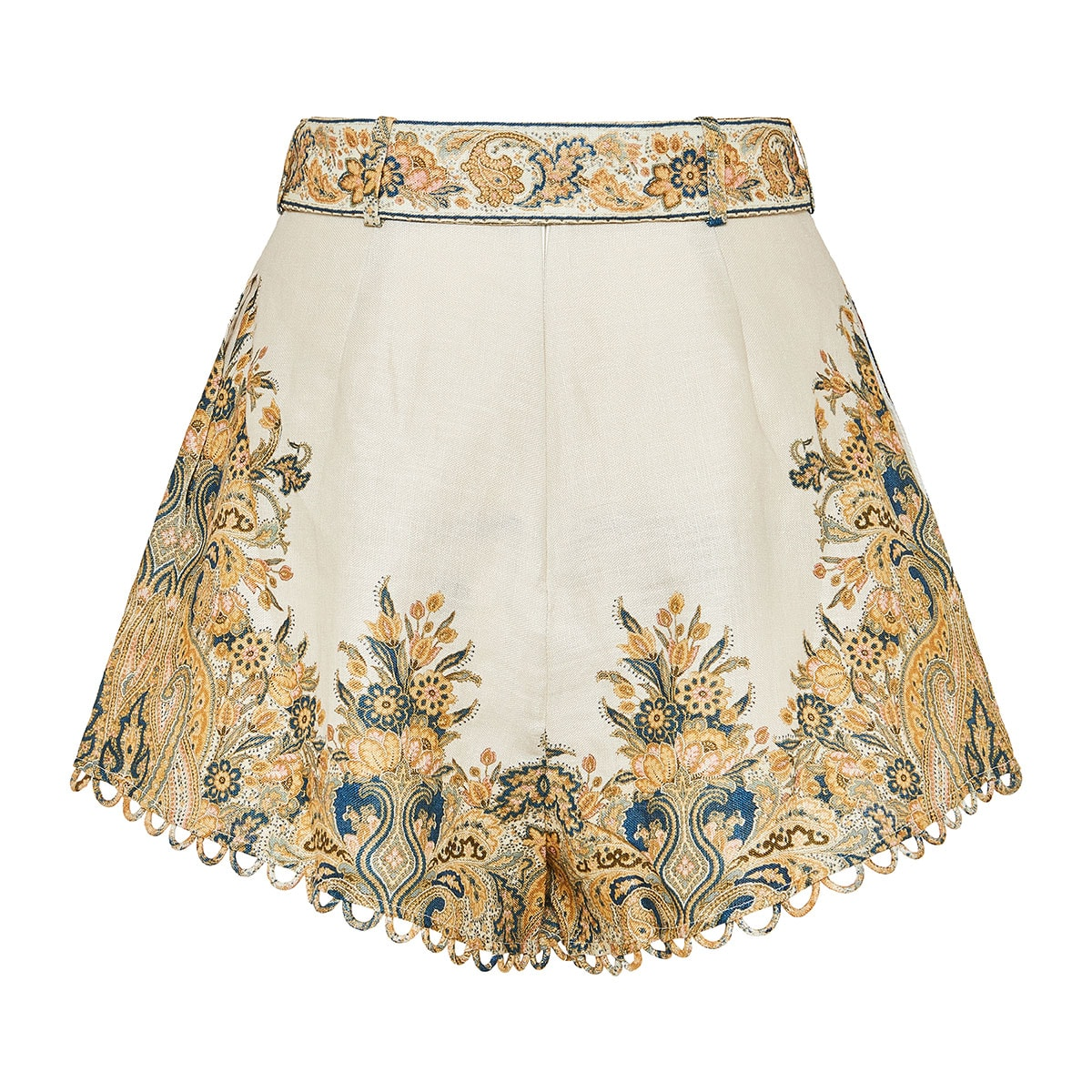 Freja printed linen shorts