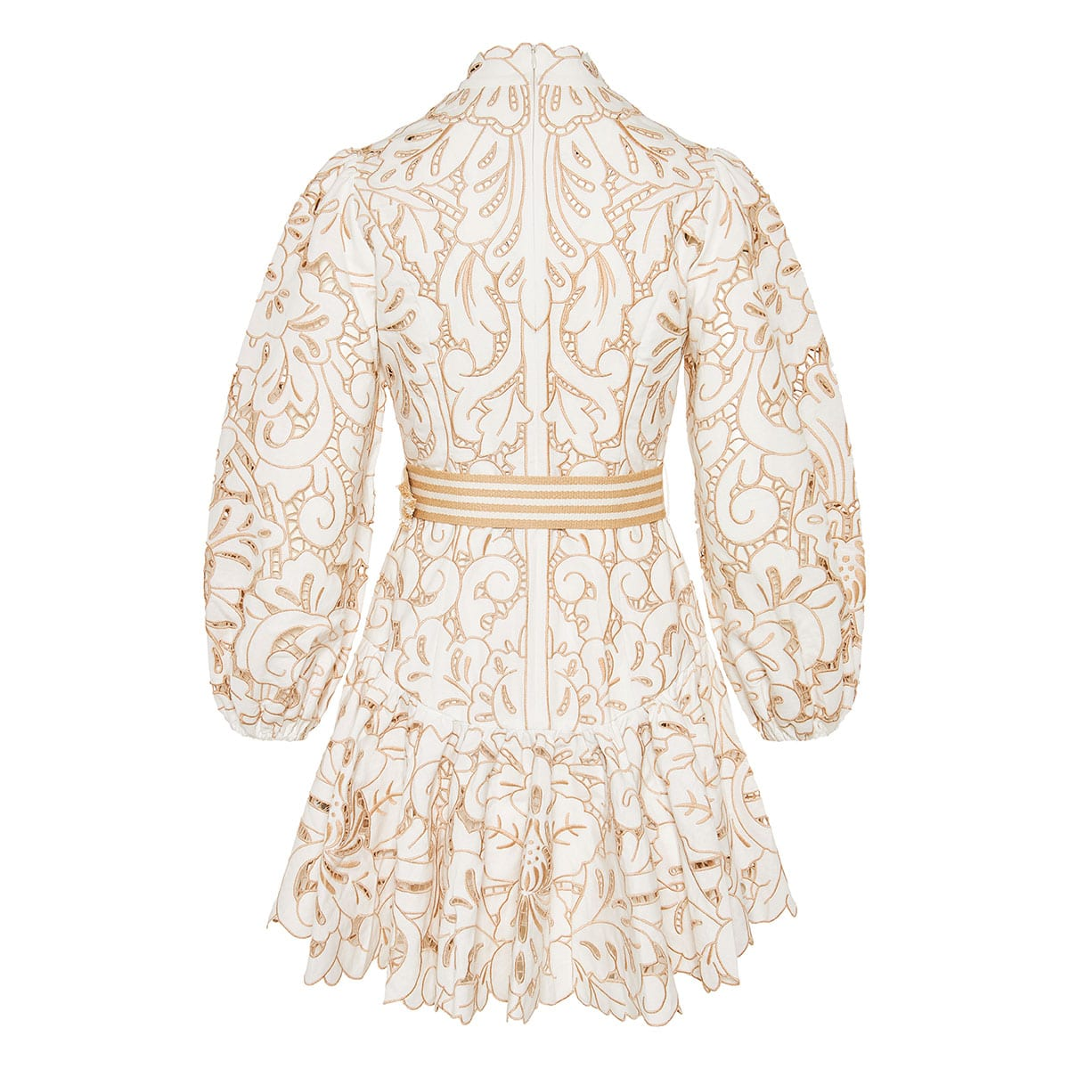 Edie embroidered linen mini dress