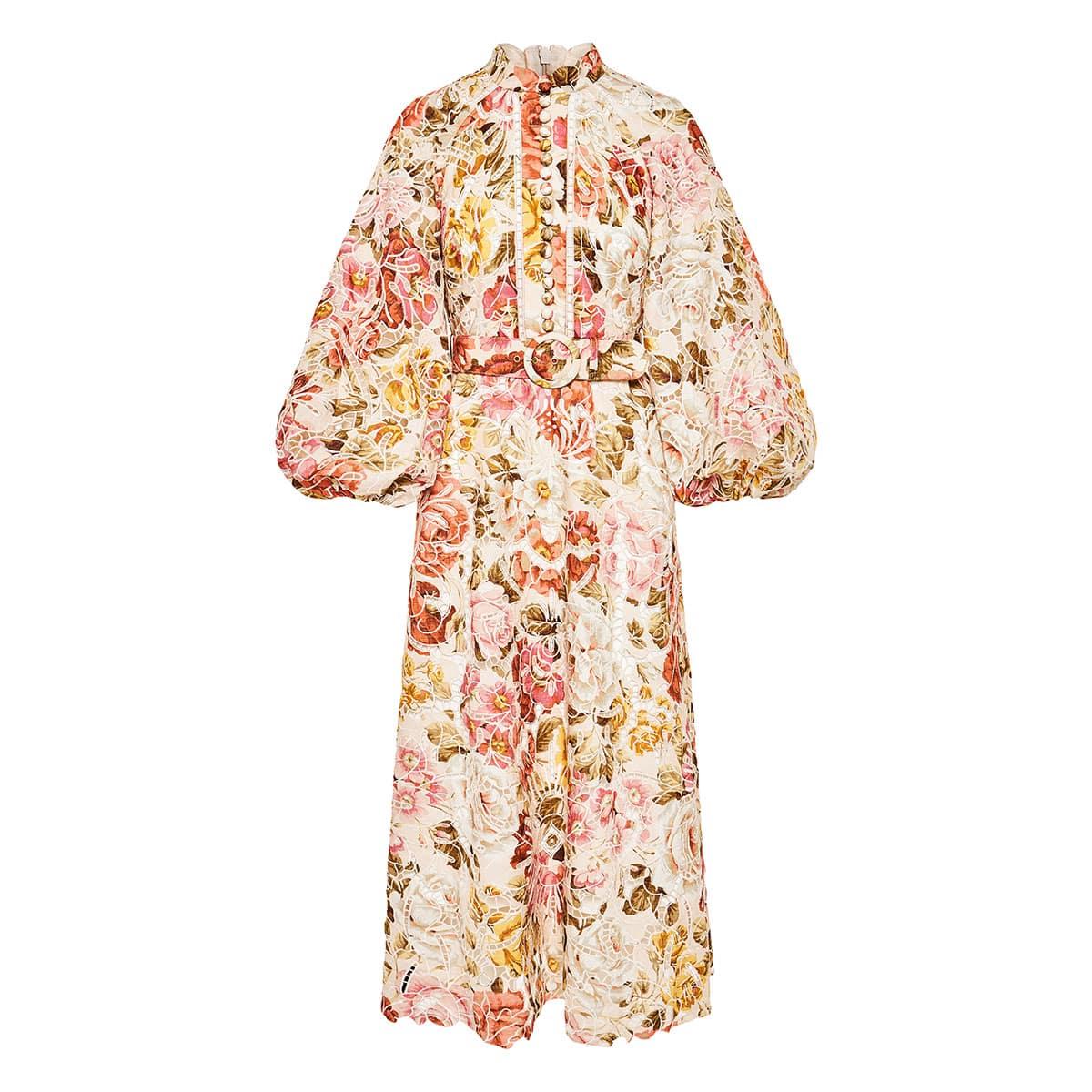 Bonita embroidered floral midi dress