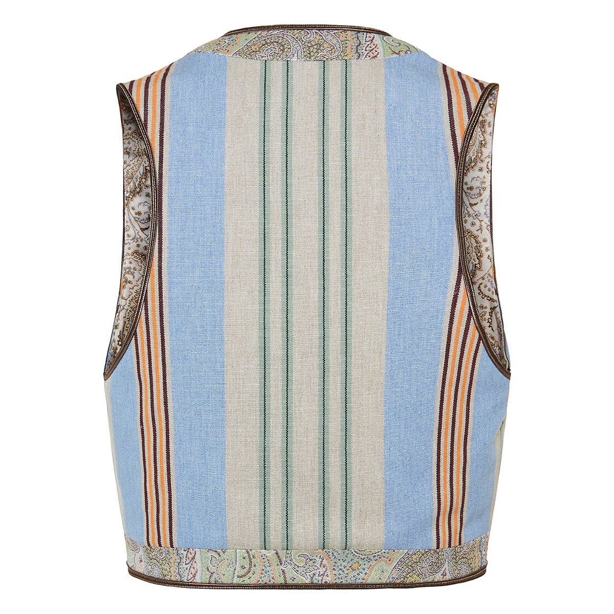 Striped cropped waistcoat