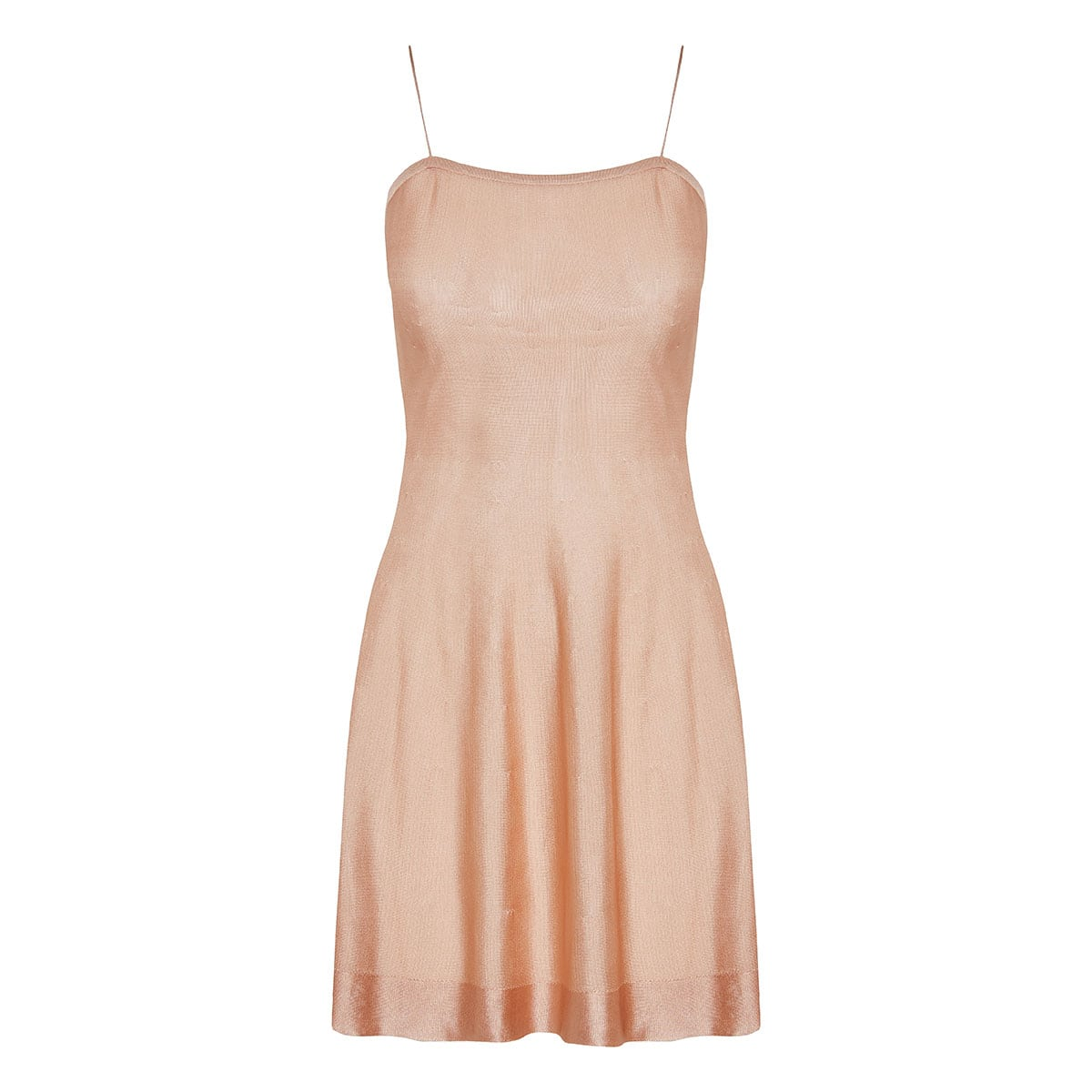 Knitted mini slip dress