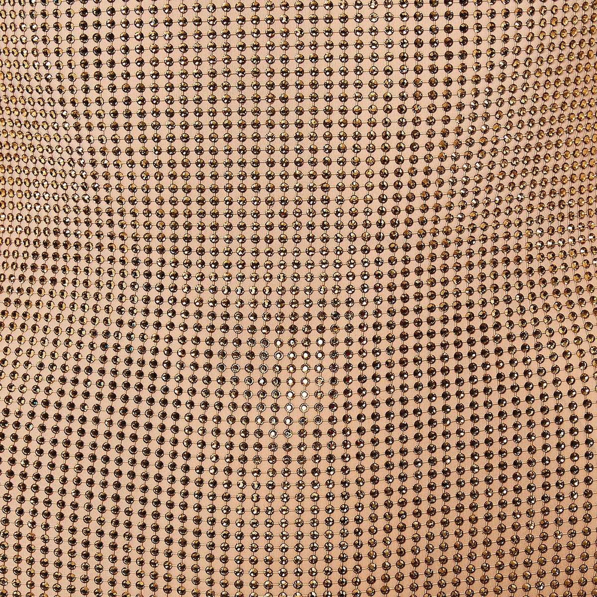 Crystal-mesh open-back midi dress
