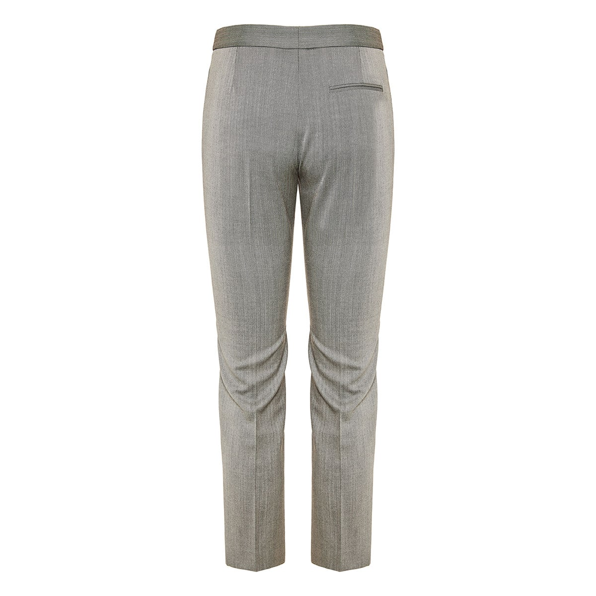 Herringbone wool tailored trousers
