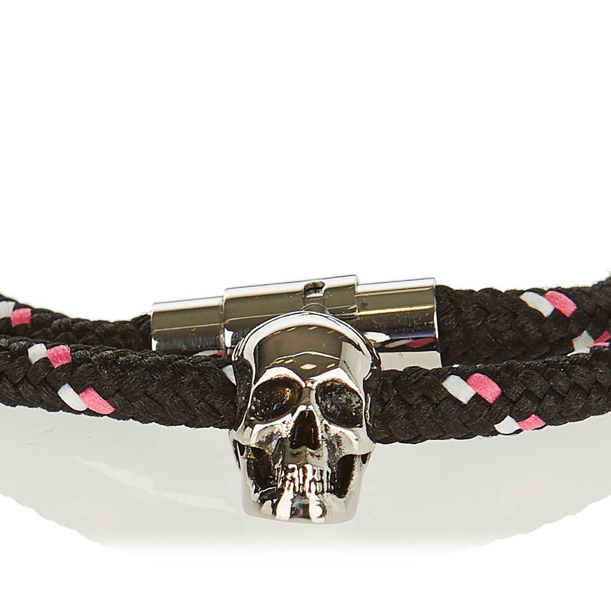 Friendship skull double rope bracelet