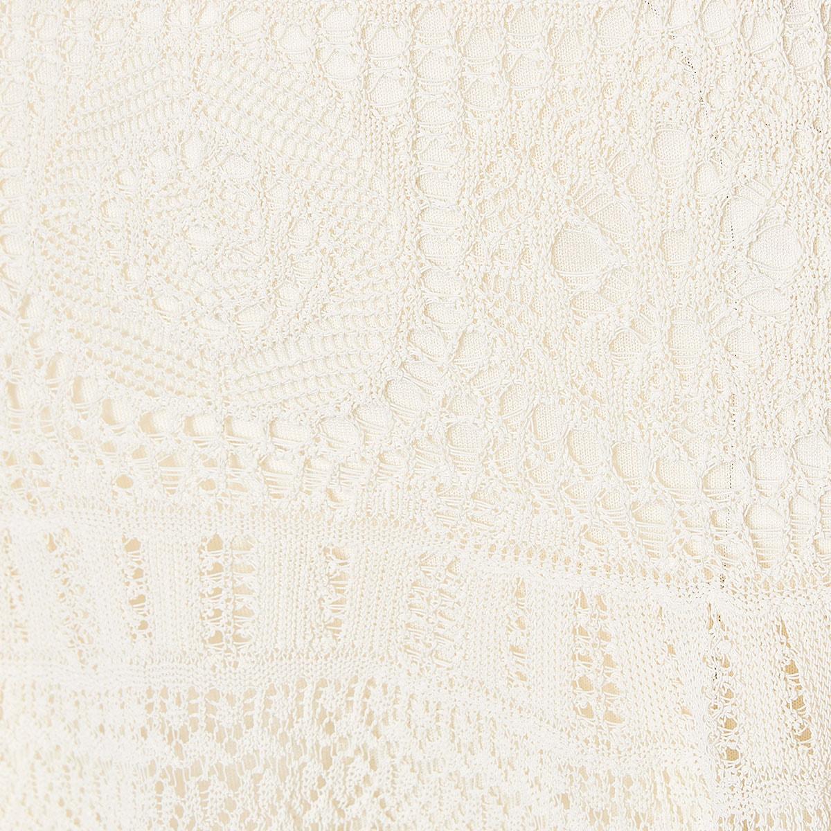 Crochet knitted midi dress