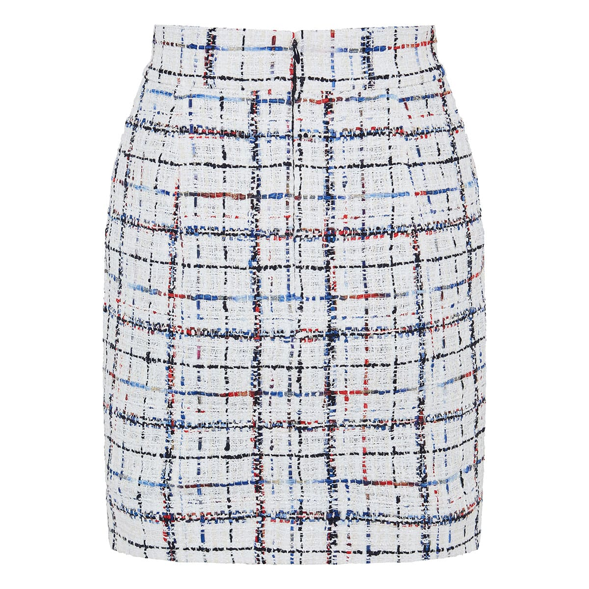 Checked tweed mini skirt
