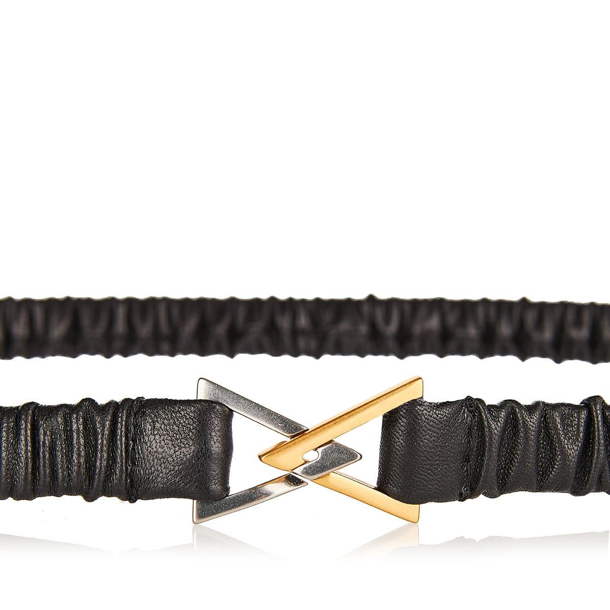 Triangle-buckle elasticated belt