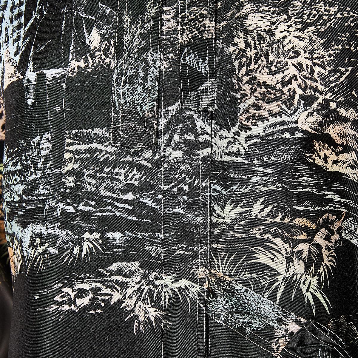 Bow-tie printed wrap shirt