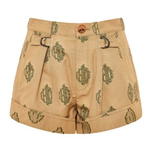 Jacquard-cotton logo shorts