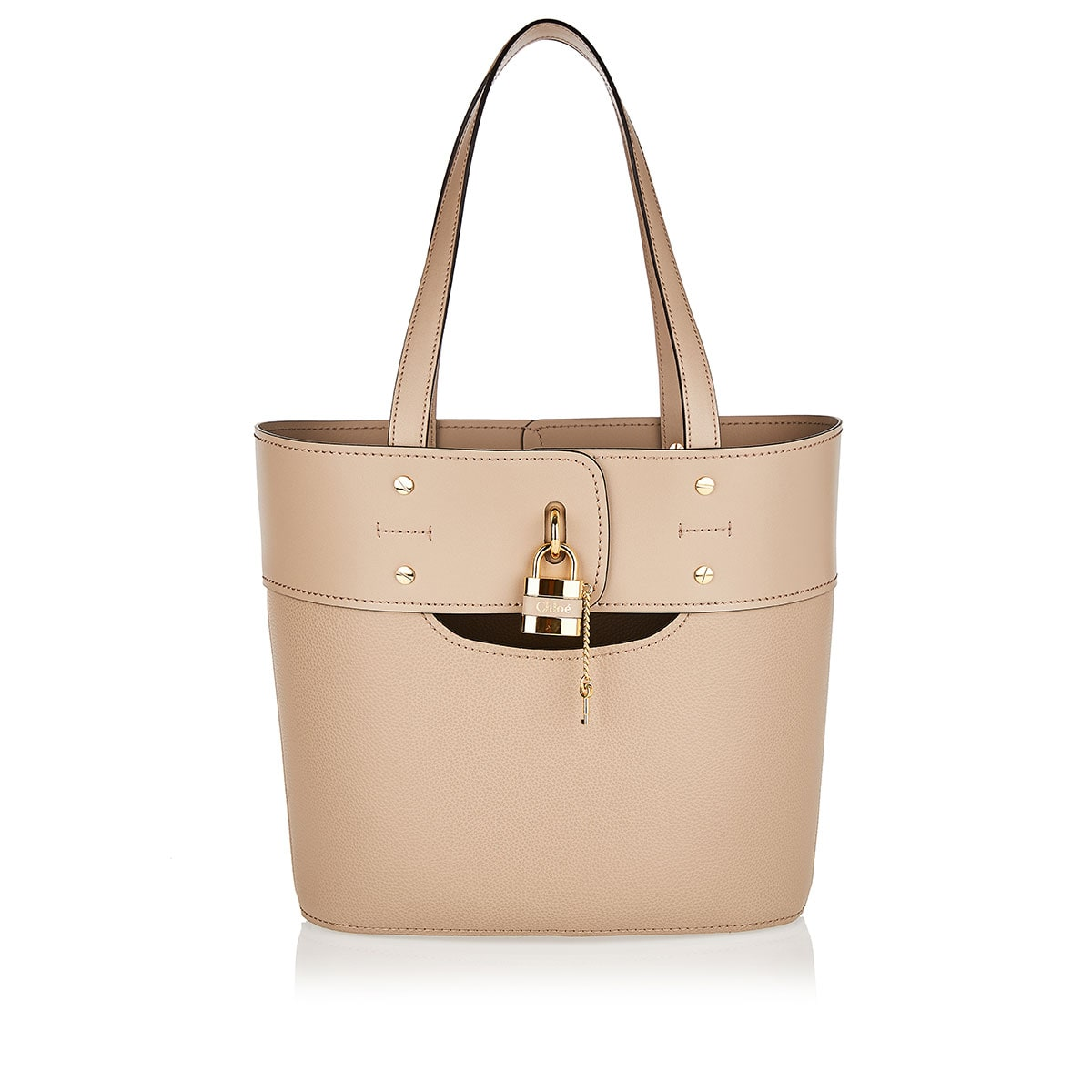Aby Small leather tote