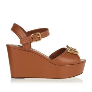 DG logo leather wedges