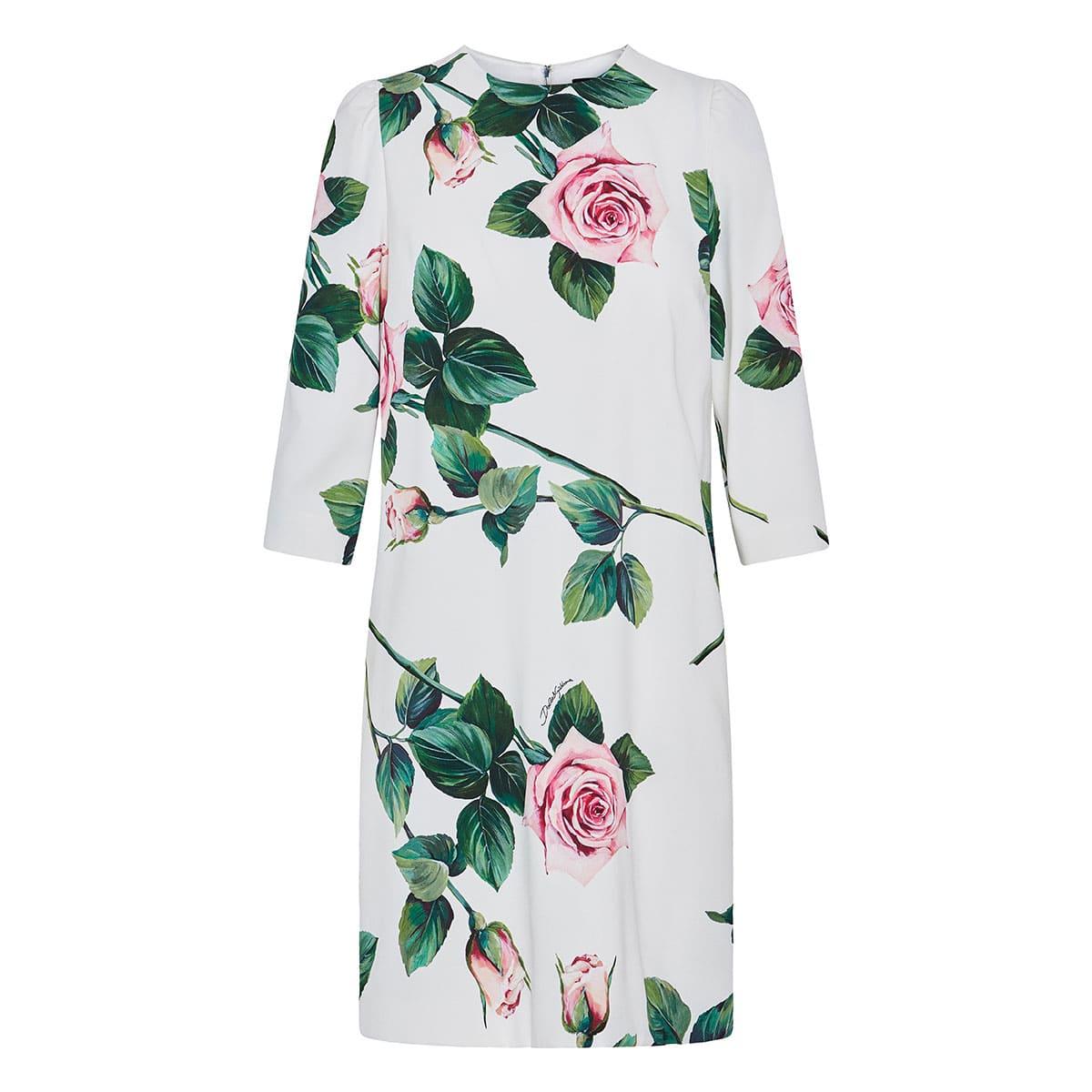 Floral cady mini dress