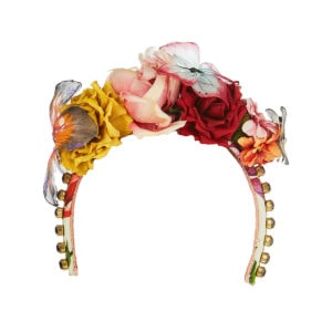Flower embellished headband