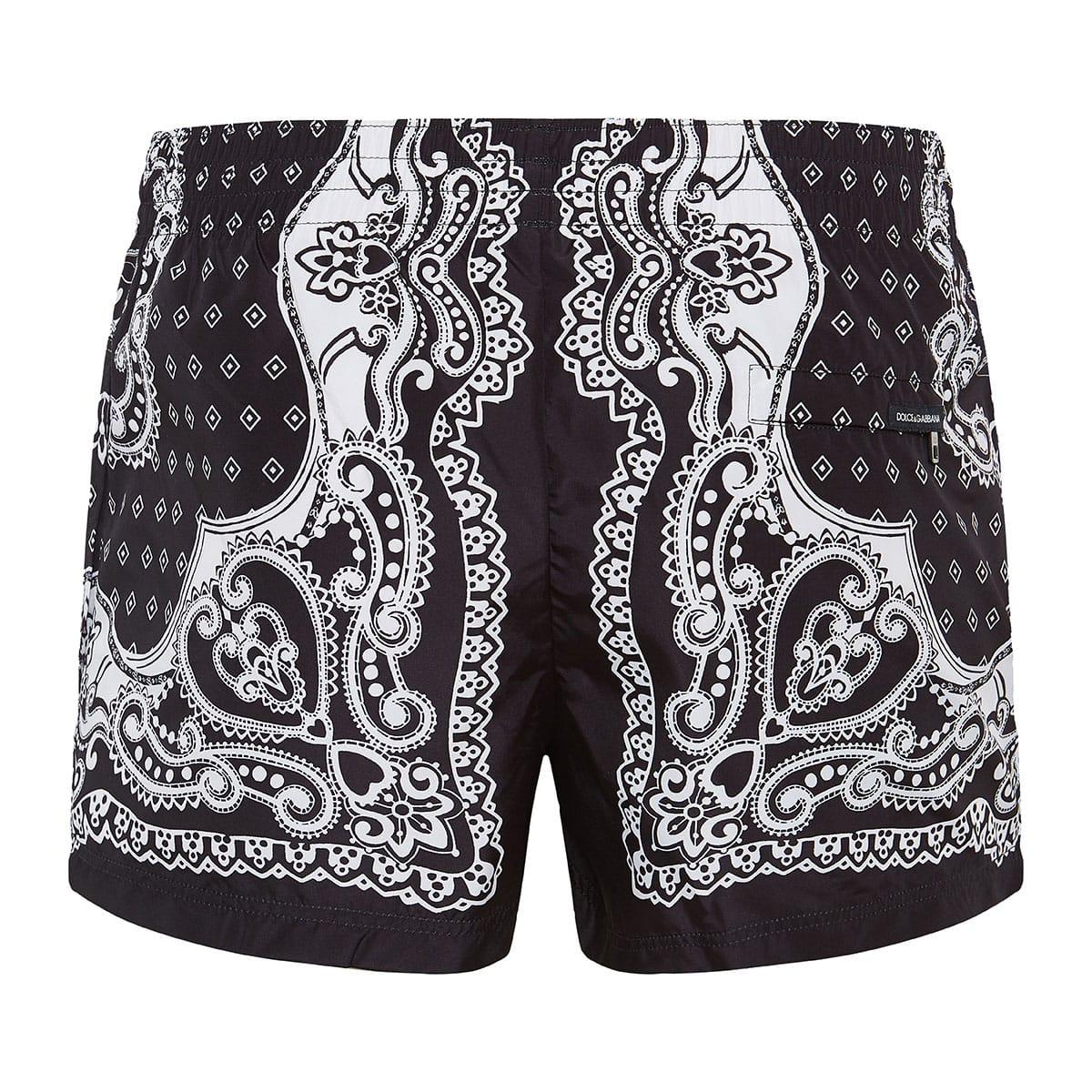 Bandana print swim shorts
