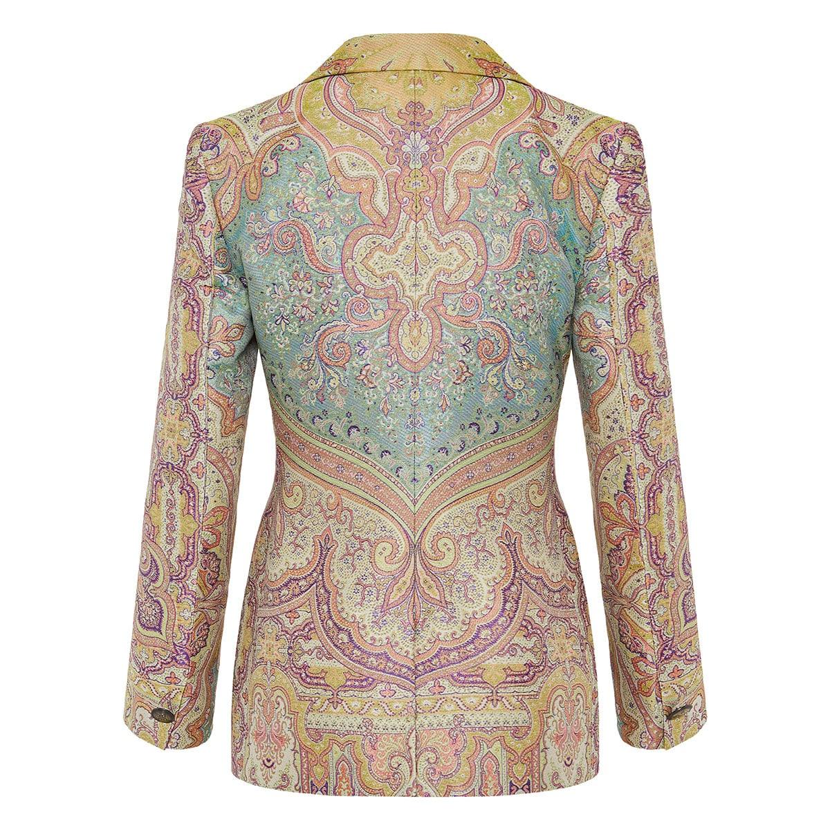 Paisley jacquard blazer