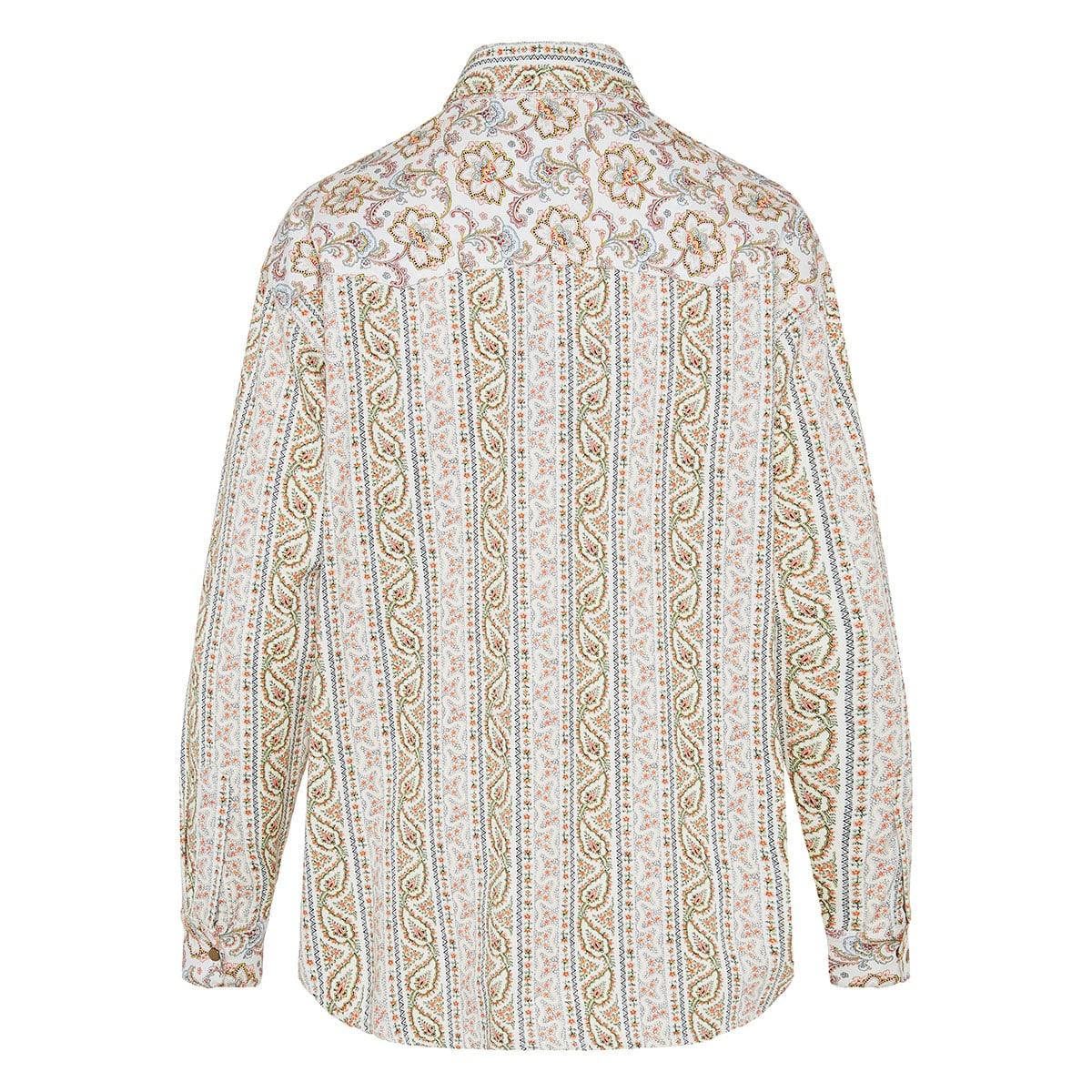 Paisley denim shirt