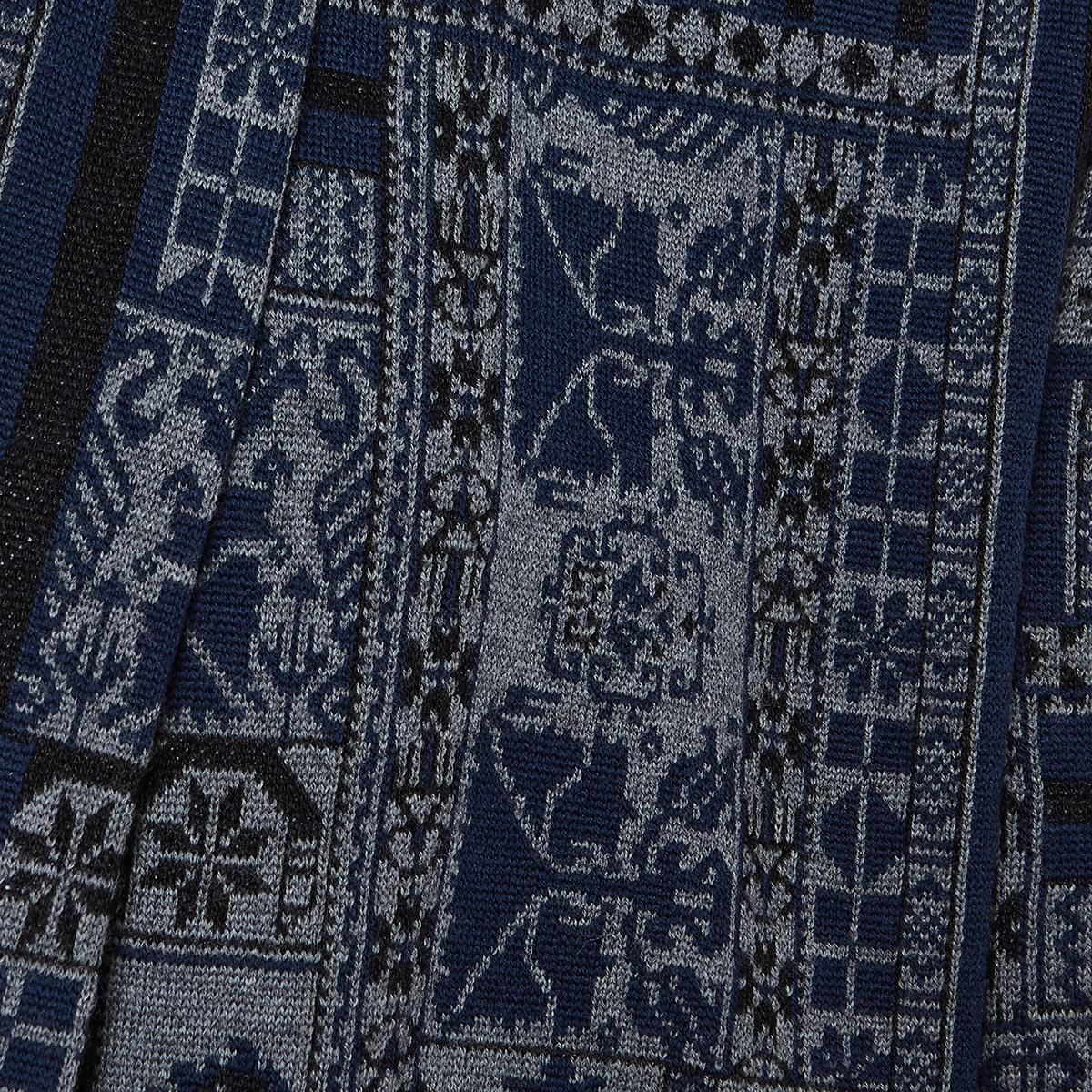 Jacquard printed cardigan