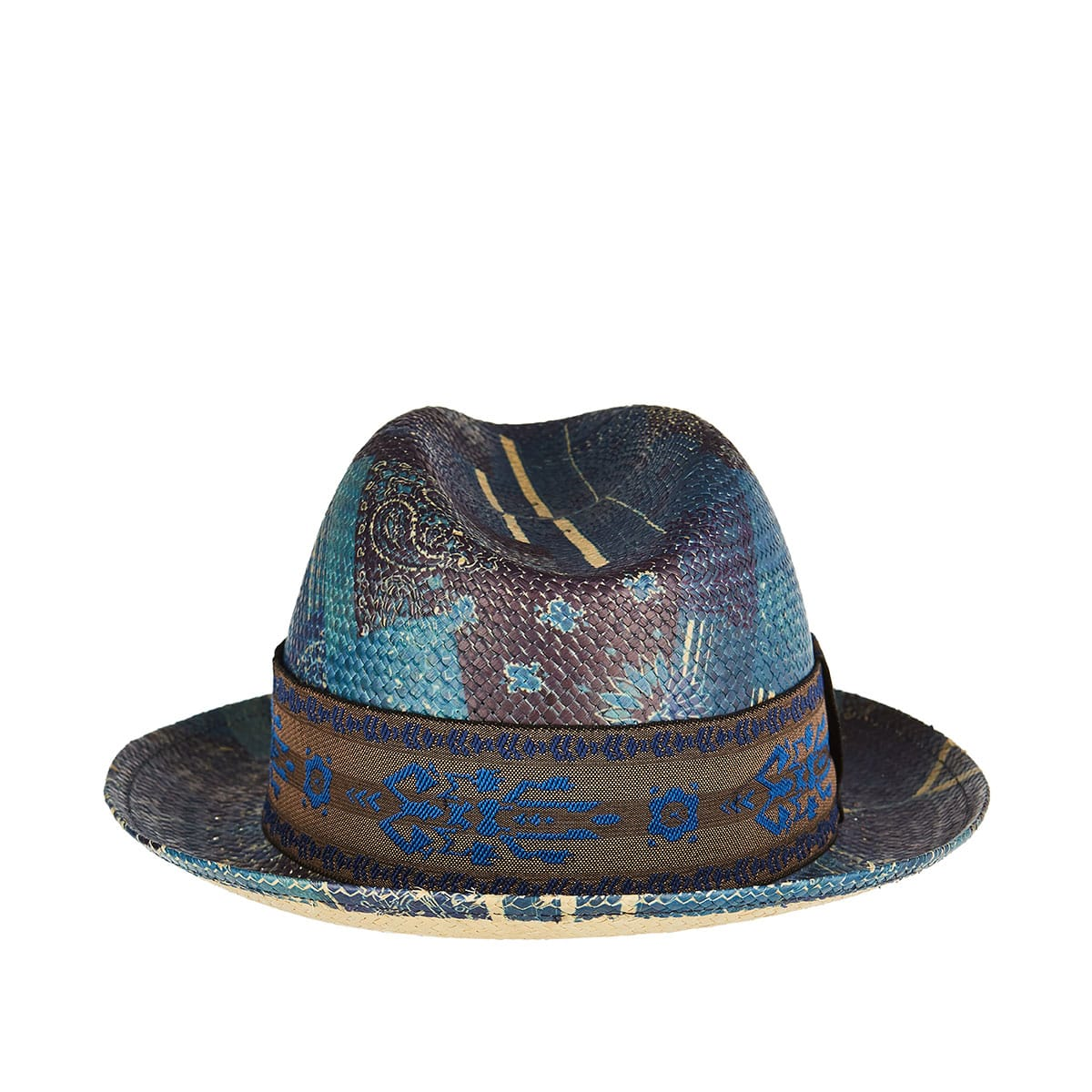 Paisley-printed woven hat