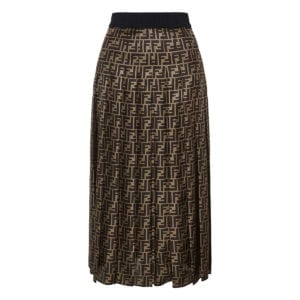FF pleated midi skirt