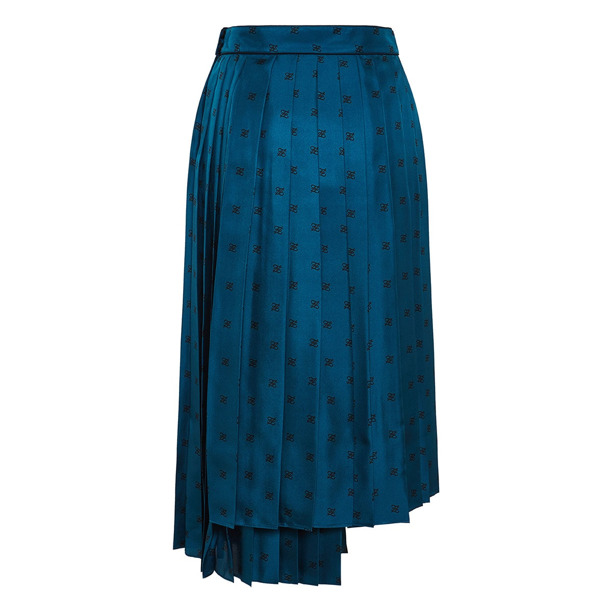FF Karligraphy asymmetric pleated skirt